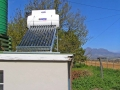 Low pressure solar geyser system at Devon Valley near Stellenbosch