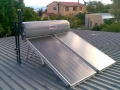 Solar geyser on flat roof at Worcester