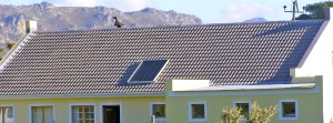 Solar water heating at Tre Donne Estate (near Somerset West / Sir Lowry's Pass Village)